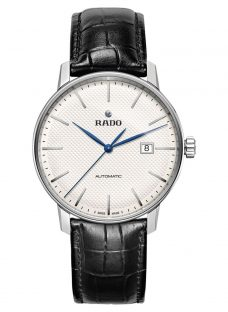 Rado R22876015 Men's Coupole Classic Date Automatic Leather Strap Watch