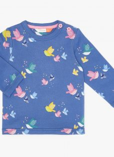 John Lewis & Partners Baby Bird Print Sweater