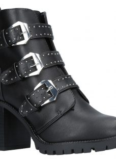 Miss KG Saxon Buckle Block Heeled Ankle Boots