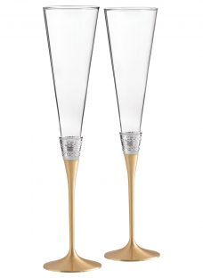 Vera Wang for Wedgwood With Love Gold Flute Pair