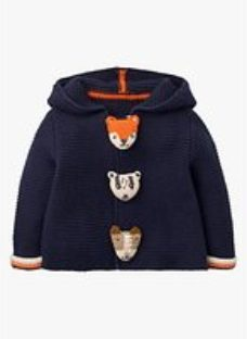 Mini Boden Baby Animal Button Knitted Jacket