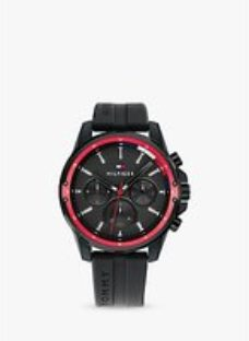 Tommy Hilfiger 1791793 Men's Chronograph Silicone Strap Watch