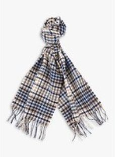 Barbour Barmack Houndstooth Wool Scarf