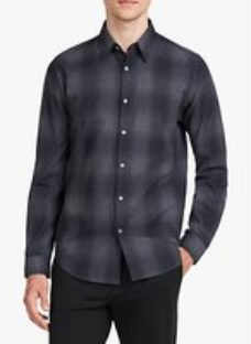 Theory Irving Regular Fit Flannel Cotton Check Shirt