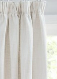Croft Collection Lachlan Pair Lined Pencil Pleat Curtains