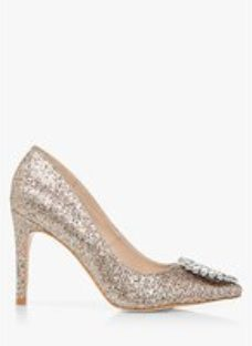 Head Over Heels Aibleene Glitter Pointed Toe Court Shoes