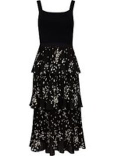 Ted Baker Betee Floral Print Tiered Dress