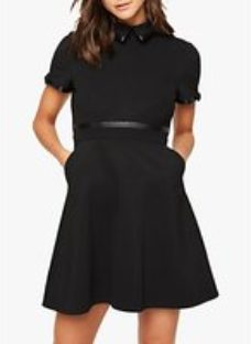 Damsel in a Dress Charlotte Tailored Faux Leather Detail Mini Dress
